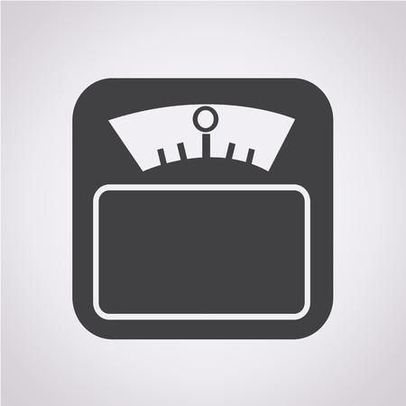 Weight Scale Icon Stock Illustratie