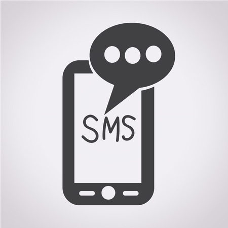 sms text: Mobile sms text message mail icon