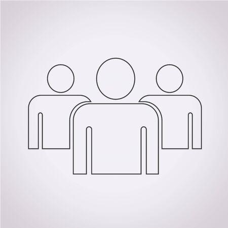 grupo de pessoas: Icon pessoas Grupo