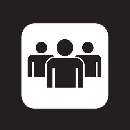 grupo de pessoas: Povos do grupo �cone assinar