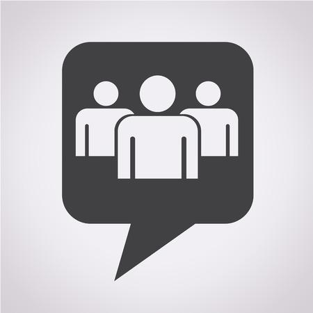 grupo de pessoas: Bolha do discurso �cone pessoas Grupo
