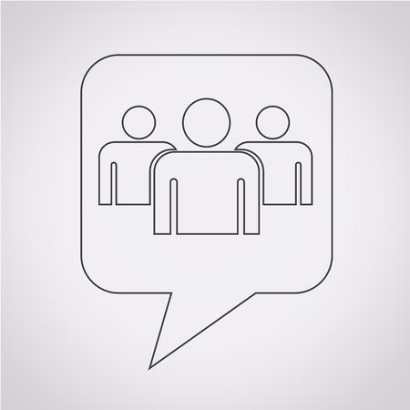 grupo de pessoas: Bolha do discurso