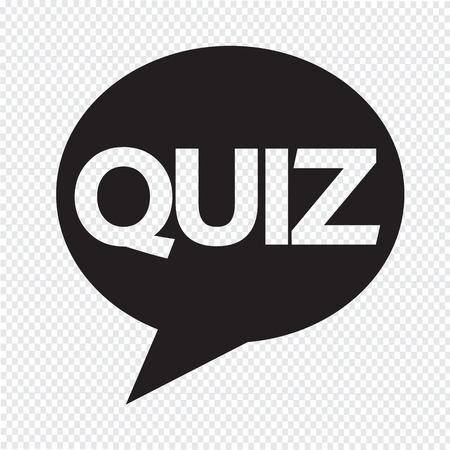 kwis: Quiz tekstballon icoon