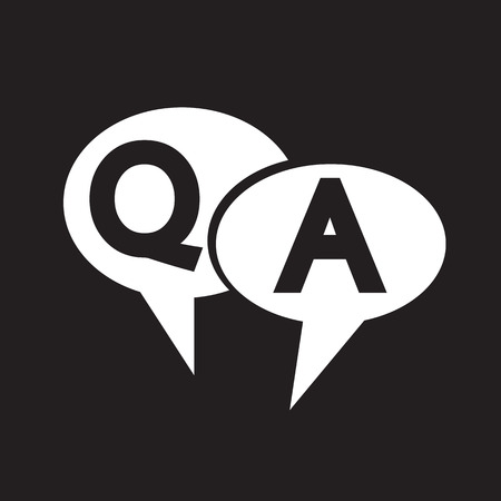 qa: Q&A symbol ,Question answer icon