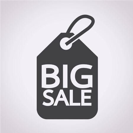 big sale: Price tag big sale Illustration