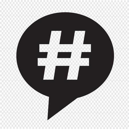 Hashtag speech bubble icon Vektorové ilustrace