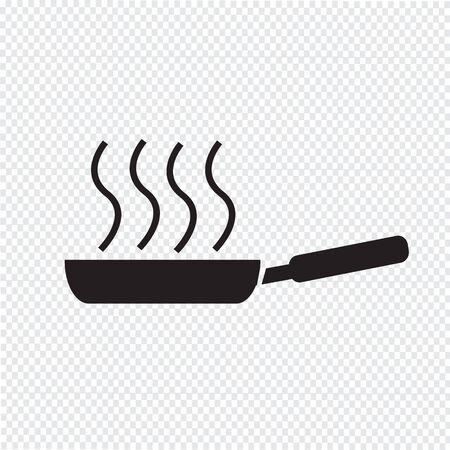 Koekenpan pictogram Vector Illustratie