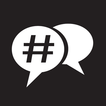 Hashtag social media icon Vektorové ilustrace