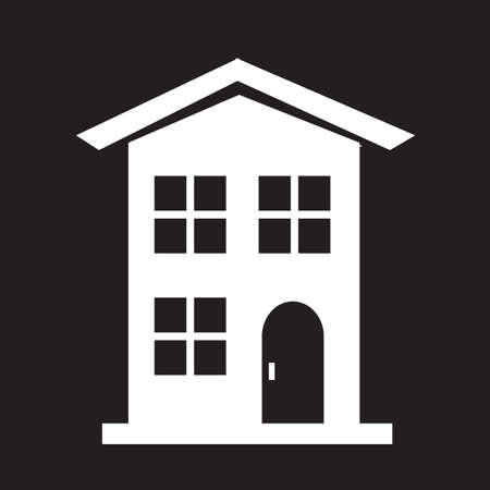 country house: Country house icon Illustration