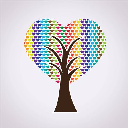 st valentin's day: Love Tree Illustration