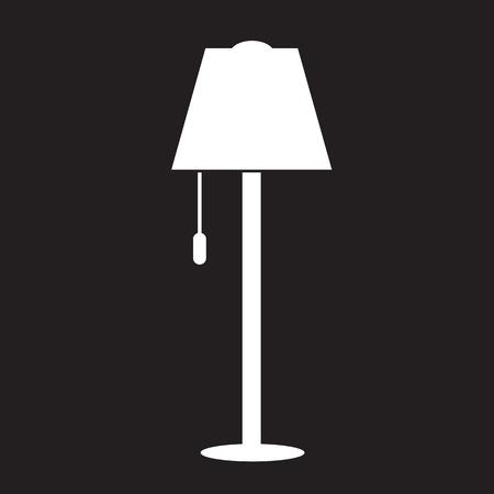 lamp shade: Floor Lamp Icon Illustration