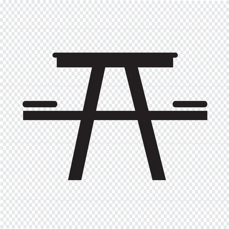 stowing: Camping table icon