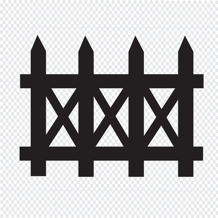 dissociation: fence icon Illustration
