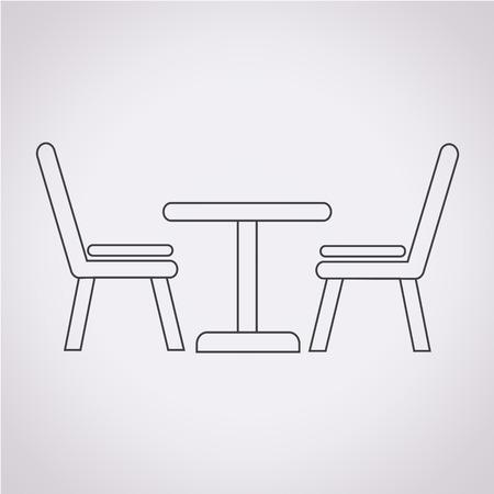 Tisch Mit Stühlen Icon Lizenzfrei Nutzbare Vektorgrafiken