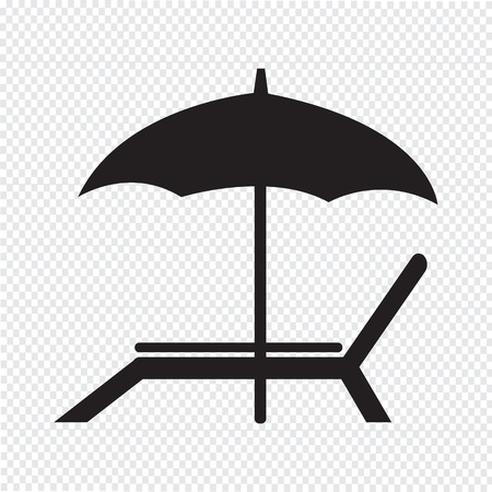 reclining chair: beach chair icon