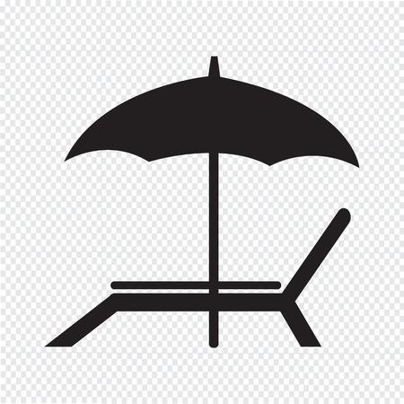 strandstoel: strandstoel icoon