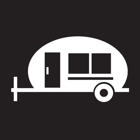 recreation: trailer , Recreation Vehicle Icon Illustration