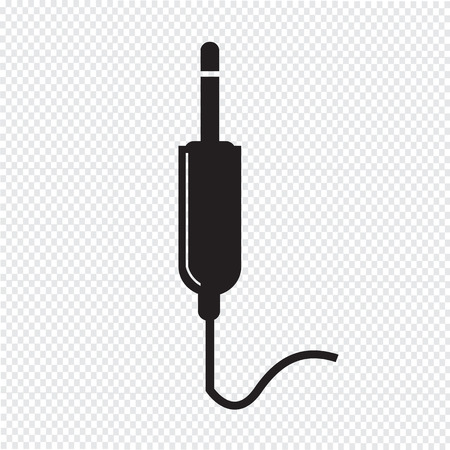 dvi: jack cable icon Illustration