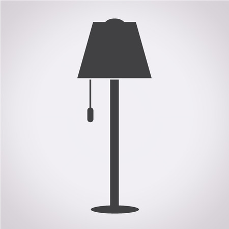 floor lamp: Floor Lamp Icon Illustration