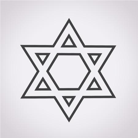stella di davide: Stella di David icona Vettoriali