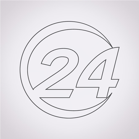 24: 24 hour icon