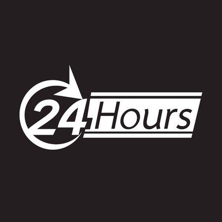 twenty four hour: 24 hours icon