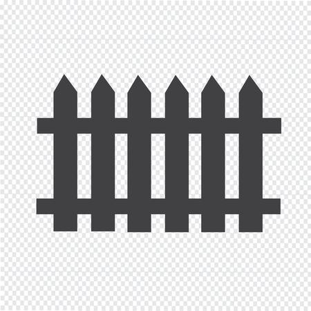 wooden fence: fence icon Illustration