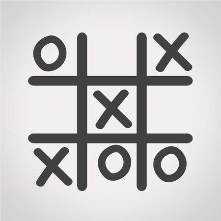 x games: x o icon Illustration