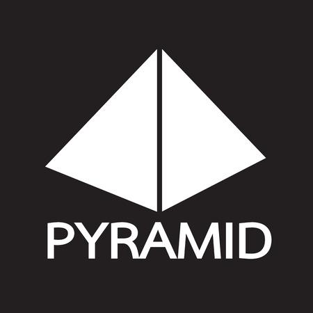 stone mason: Pyramid design icon