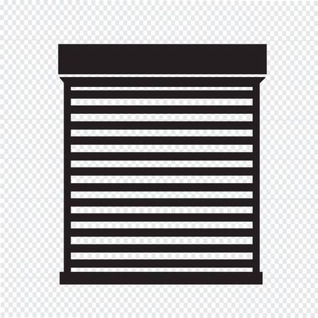 roller shutters: Roll up door icon