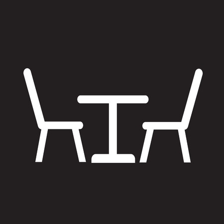 patio furniture: Table with chairs icon