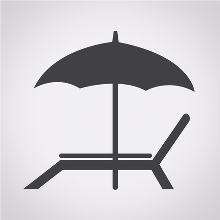 recliner: beach chair icon