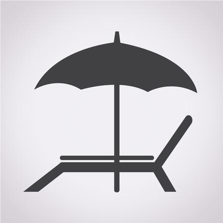 strandstoel icoon
