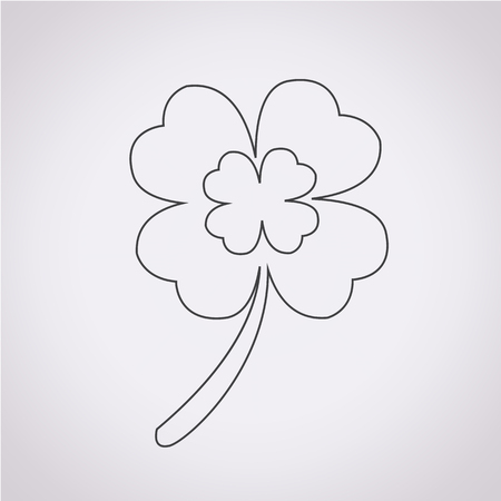 clover icon: Leaf Clover icon Illustration