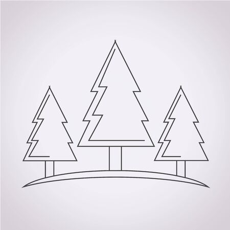 forestry: Forest tree icon
