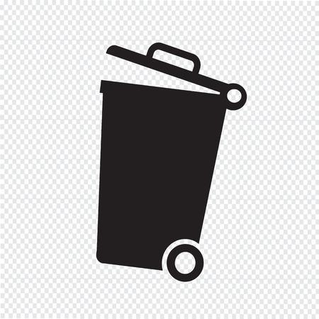 trash bin: trash bin icon