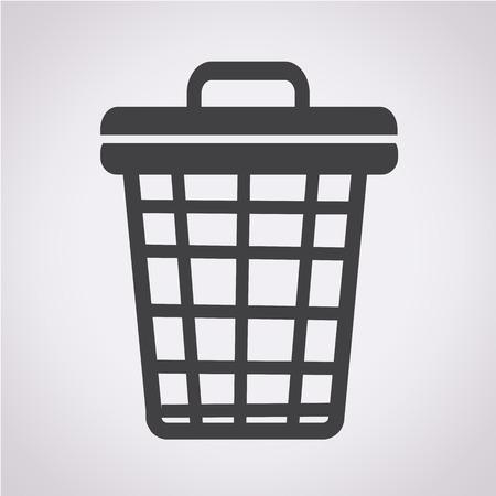 trash can: trash bin icon
