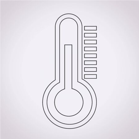 thermostat: thermometer icon