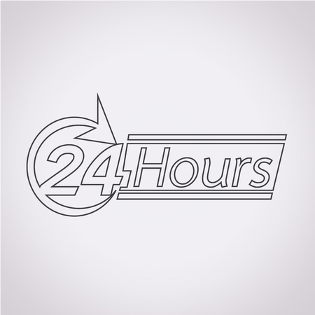 24: 24 hours icon