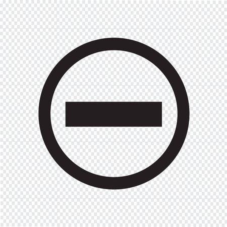negativity: minus icon