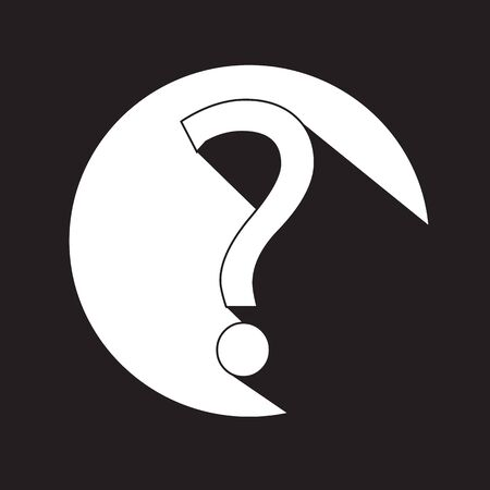 quality questions: Question mark sign icon