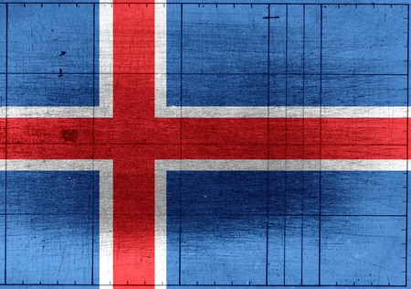 iceland: National flag of Iceland themes idea design Stock Photo