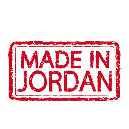 jordanian: Made in JORDAN stamp text Illustration Stock Illustratie