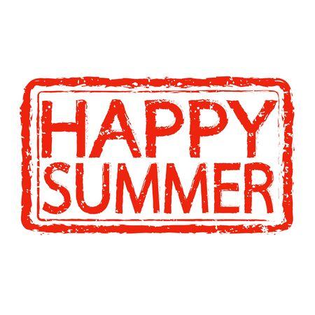 happy summer: HAPPY SUMMER stamp text design