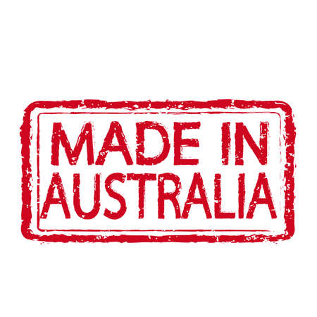 australia stamp: Made in AUSTRALIA stamp text Illustration Illustration