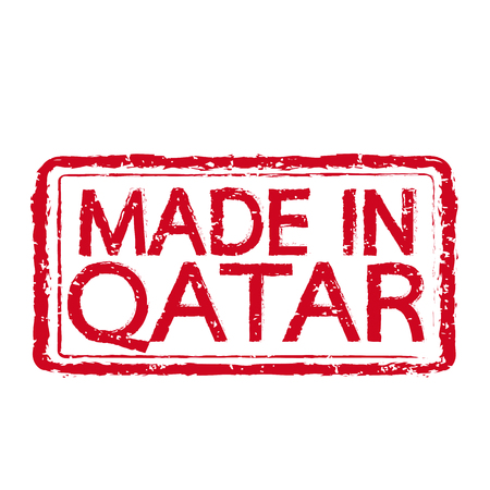 certificated: Made in QATAR stamp text Illustration Illustration
