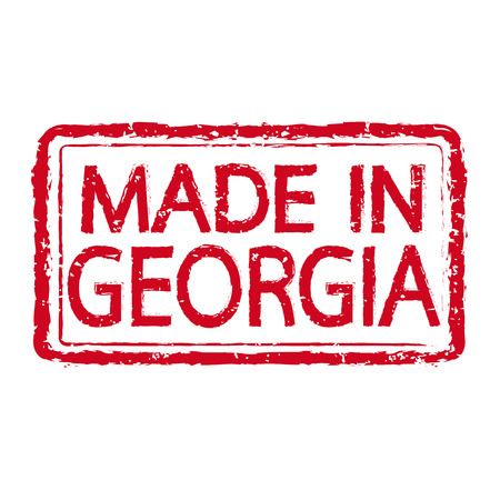 readymade: Made in GEORGIA stamp text Illustration