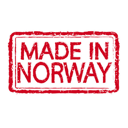 norway: Made in NORWAY stamp text Illustration