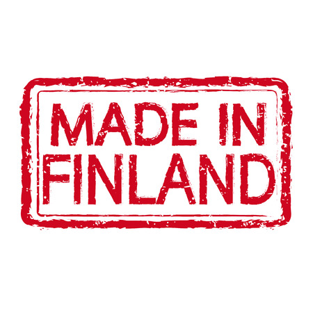made in finland: Made in FINLAND stamp text Illustration