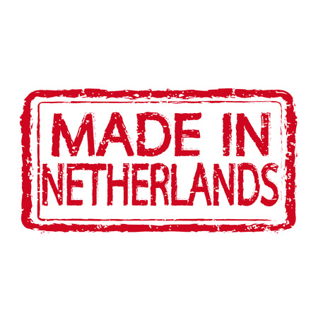 certificated: Made in NETHERLANDS stamp text Illustration